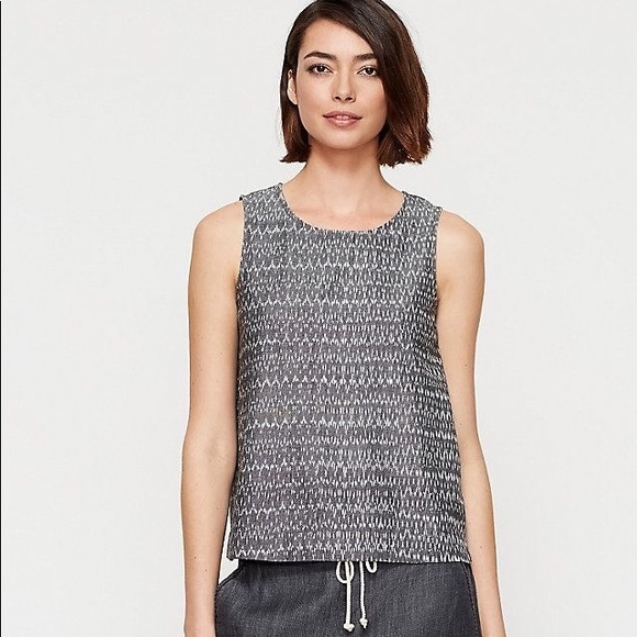 0e24db890e3ee Eileen Fisher Tops - Eileen Fisher Aerial Ikat Print Tank Top in Gray
